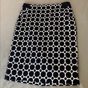Blue polka dot skirt